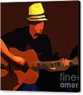 Guitarist Canvas Print by Soumya Bouchachi