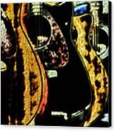 Guitars Canvas Print by John Monteath