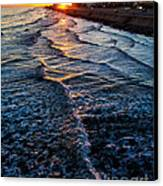 Gulf Sunset Canvas Print by Perry Webster