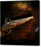 Gun - Pistol - Romance Of Pirateering Canvas Print by Mike Savad