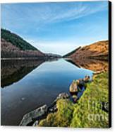 Gwydyr Forest Lake Canvas Print by Adrian Evans