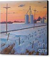 Gym Road Elevator Canvas Print by Ron Bowles