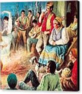 Gypsies Partying Canvas Print