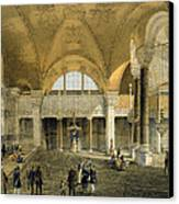 Haghia Sophia, Plate 9 The New Imperial Canvas Print by Gaspard Fossati
