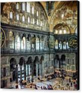 Hagia Sophia Interior Canvas Print by Joan Carroll