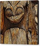 Haida Totem Canvas Print by Bob Christopher