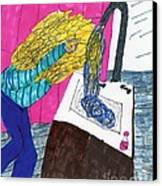 Hair Wash Canvas Print by Elinor Rakowski