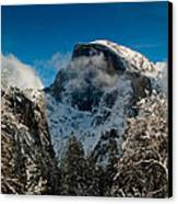 Half Dome Winter Canvas Print by Bill Gallagher