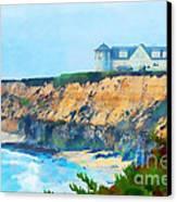 Half Moon Bay 2 Canvas Print by Betty LaRue