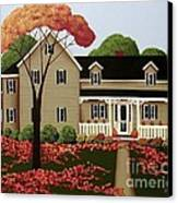 Halloween In Fallbrook Canvas Print by Catherine Holman