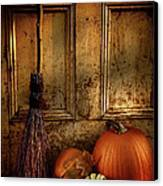 Halloween Night Canvas Print by Sandra Cunningham