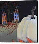 Halloween On Pumpkin Hill Canvas Print by Catherine Holman