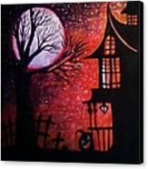 Halloween Retreat Canvas Print by Denisse Del Mar Guevara