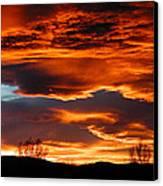 Halloween Sunset Canvas Print by Tim Nielsen