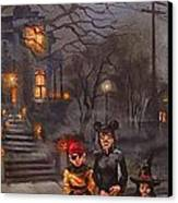 Halloween Trick Or Treat Canvas Print by Tom Shropshire