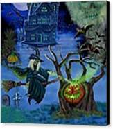 Halloween Witch's Coldron Canvas Print by Glenn Holbrook