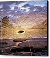 Halo On The American River Canvas Print by Lee Harland