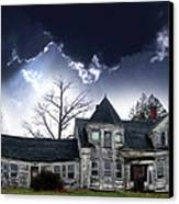 Haloween House Canvas Print by Skip Willits