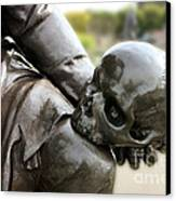 Hamlet Contemplating The Skull  Canvas Print by Terri Waters