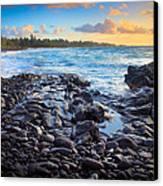 Hana Bay Sunrise Canvas Print by Inge Johnsson