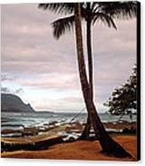 Hanalei Bay Hammock At Dawn Canvas Print