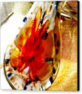 Hand Blown Glass Pendant Canvas Print by Judy Paleologos