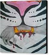 Hand In Mouth Canvas Print by Kendya Battle