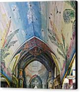 Hand Painted Church Interior Canvas Print by Linda Phelps