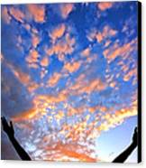 Hands Up To The Sky Showing Happiness Canvas Print by Michal Bednarek