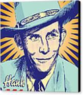 Hank Williams Pop Art Canvas Print by Jim Zahniser