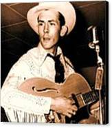 Hank Williams Sr. Canvas Print by Pg Reproductions