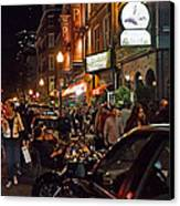 Hanover Street Nights - Boston Canvas Print