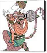 Hanuman Canvas Print by Kruti Shah
