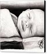 Happy Baby Canvas Print by Rosalinda Markle