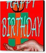 Happy Birthday 3 Canvas Print