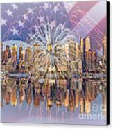 Happy Birthday America Canvas Print by Susan Candelario