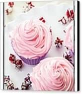 Happy Birthday Cupcakes Canvas Print by Edward Fielding