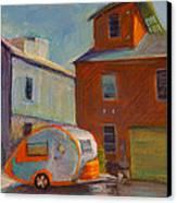Happy Camper Canvas Print by Athena  Mantle