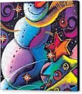 Happy Christmas Canvas Print by Leon Zernitsky
