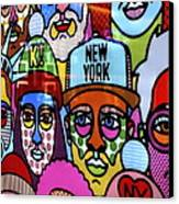 Happy Faces Happy Places New York Canvas Print by Ian  Ramsay