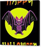 Happy Halloween Bat Canvas Print