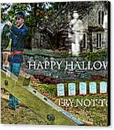 Happy Halloween-try Not To Scream Canvas Print