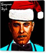Happy Holidays Gangman Style - John Dillinger 13225 Canvas Print by Wingsdomain Art and Photography