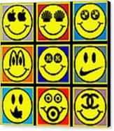 Happy Logos Canvas Print