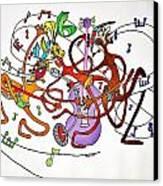 Happy People Trio Canvas Print by Glenn Calloway