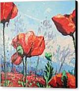 Happy Poppies  Canvas Print by Andrei Attila Mezei