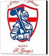 Happy St George A Day For England Greeting Card Canvas Print by Aloysius Patrimonio