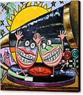 Happy Teeth When Your Smiling Canvas Print by Anthony Falbo