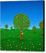 Happy Walking Tree Canvas Print