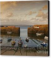 Harbor At Dusk Canvas Print by Pixel Chimp